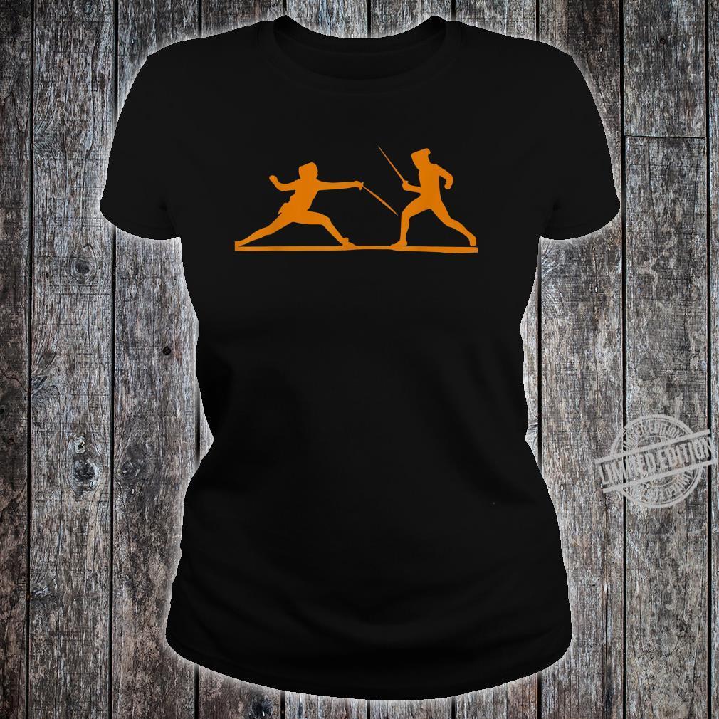 Fencing Fencers Swordplays Shirt ladies tee