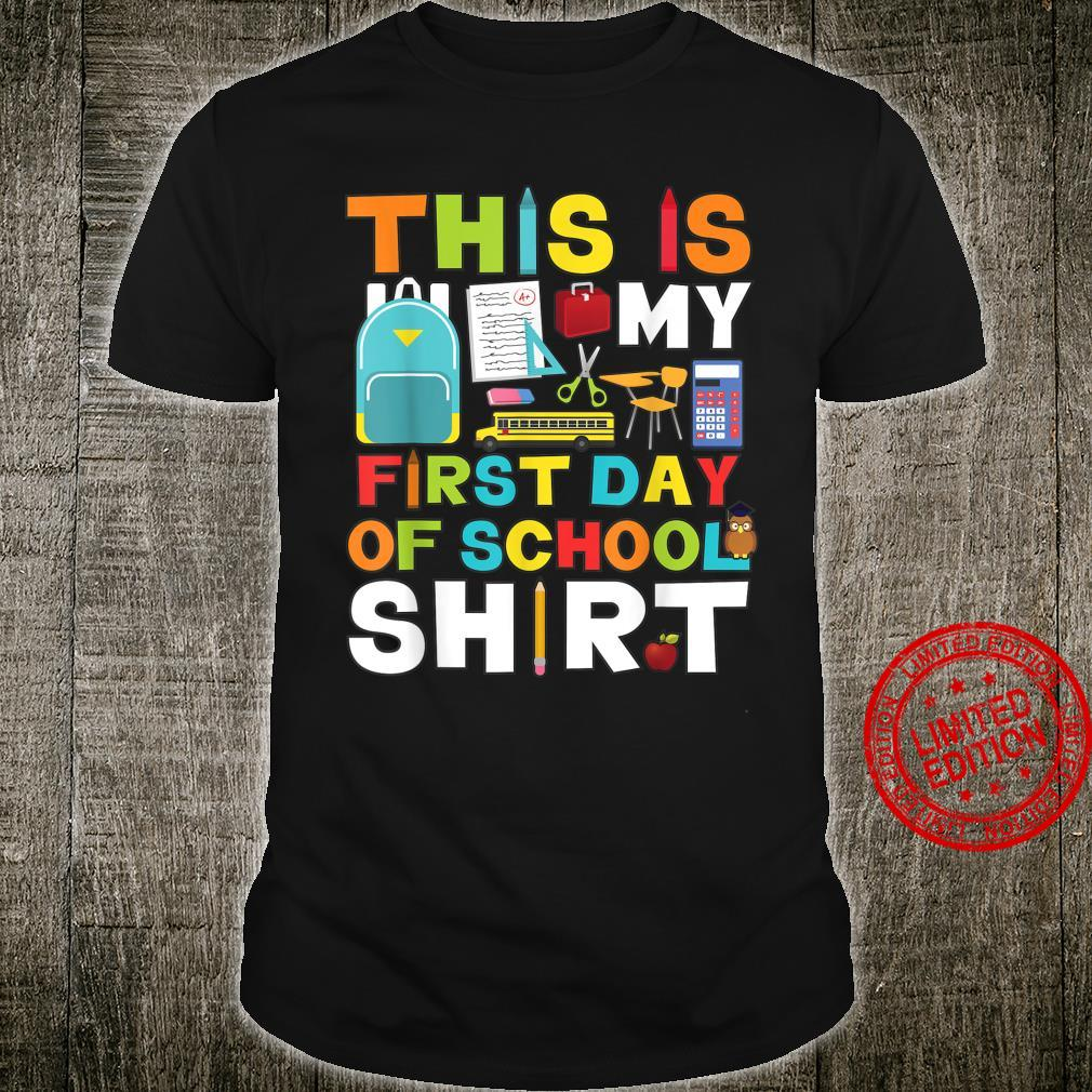 First Day Of School Shirt Boys Girls Back To School Shirt