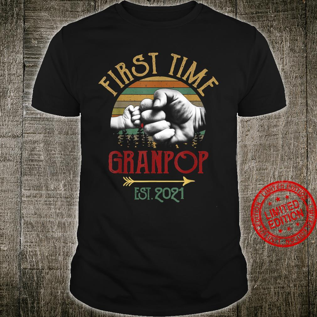First Time Granpop Est 2021 Vintage Christmas Shirt