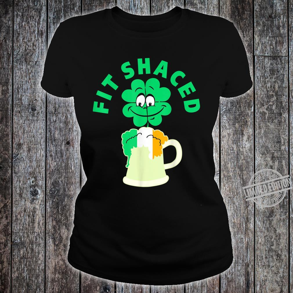 Fit Shaced St Patricks Day Shamrock Shirt ladies tee
