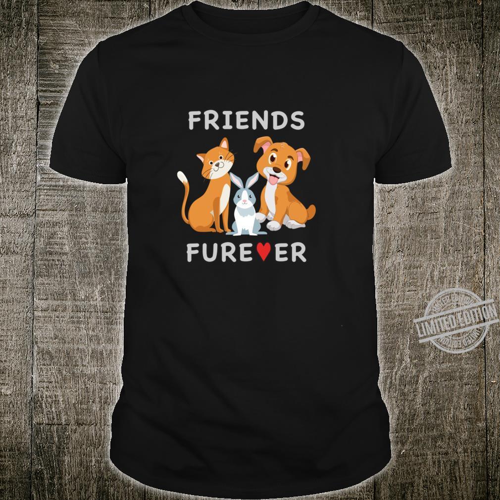 Friends Forever BFF Dog Cat Bunny Rabbit Shirt