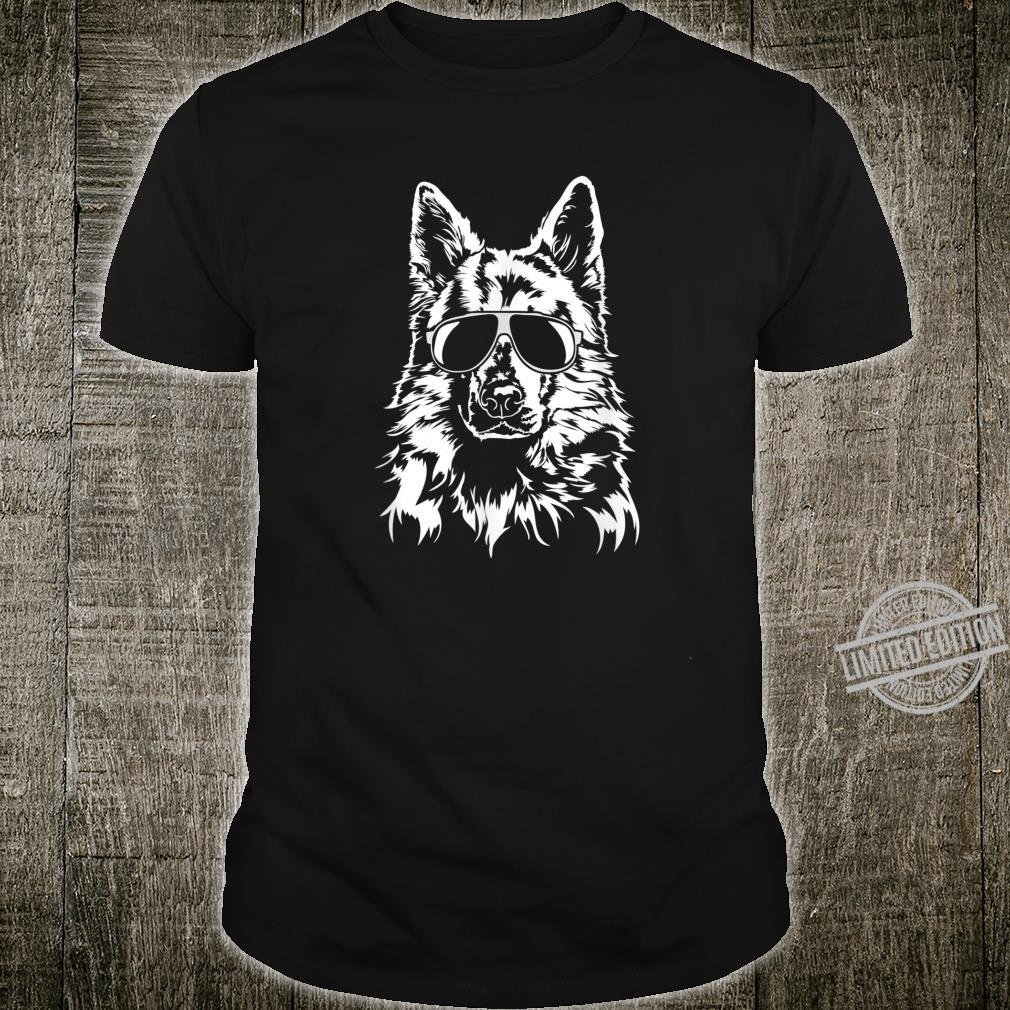 Funny Proud White Swiss Shepherd Dog sunglasses cool dog Shirt