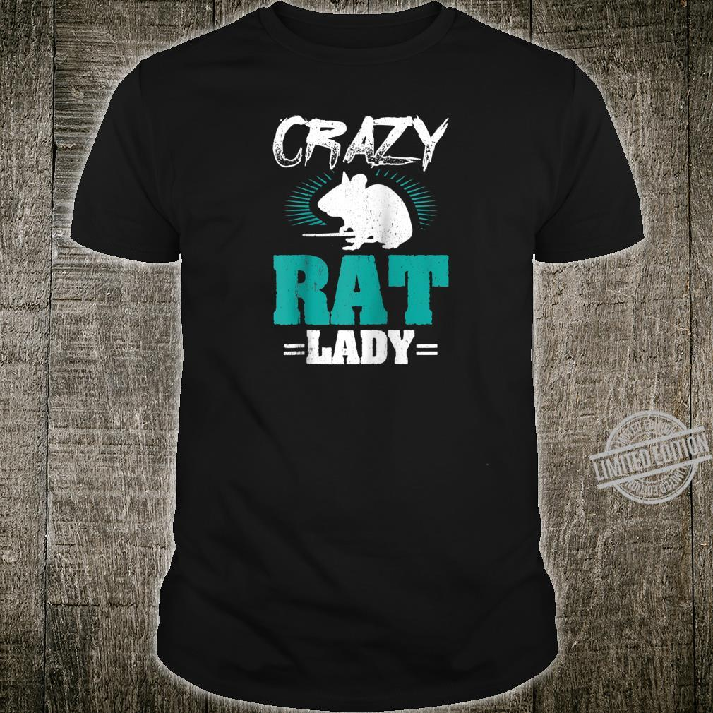 Funny Rats Designs Crazy Rat Lady Shirt