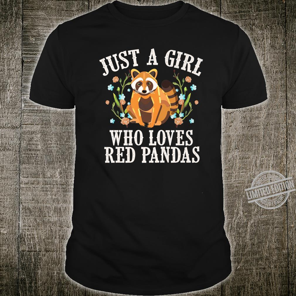 Funny Red Panda Cool Animal Whisperer Girls Shirt