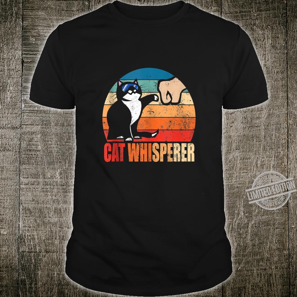 Funny Retro Best Cat Whisperer with Fist Bump Shirt
