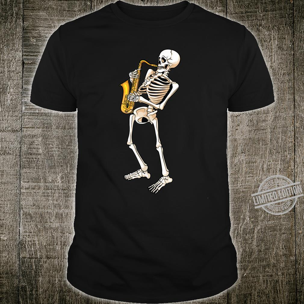 Funny Skeleton Saxophone Cute Halloween Costume Shirt
