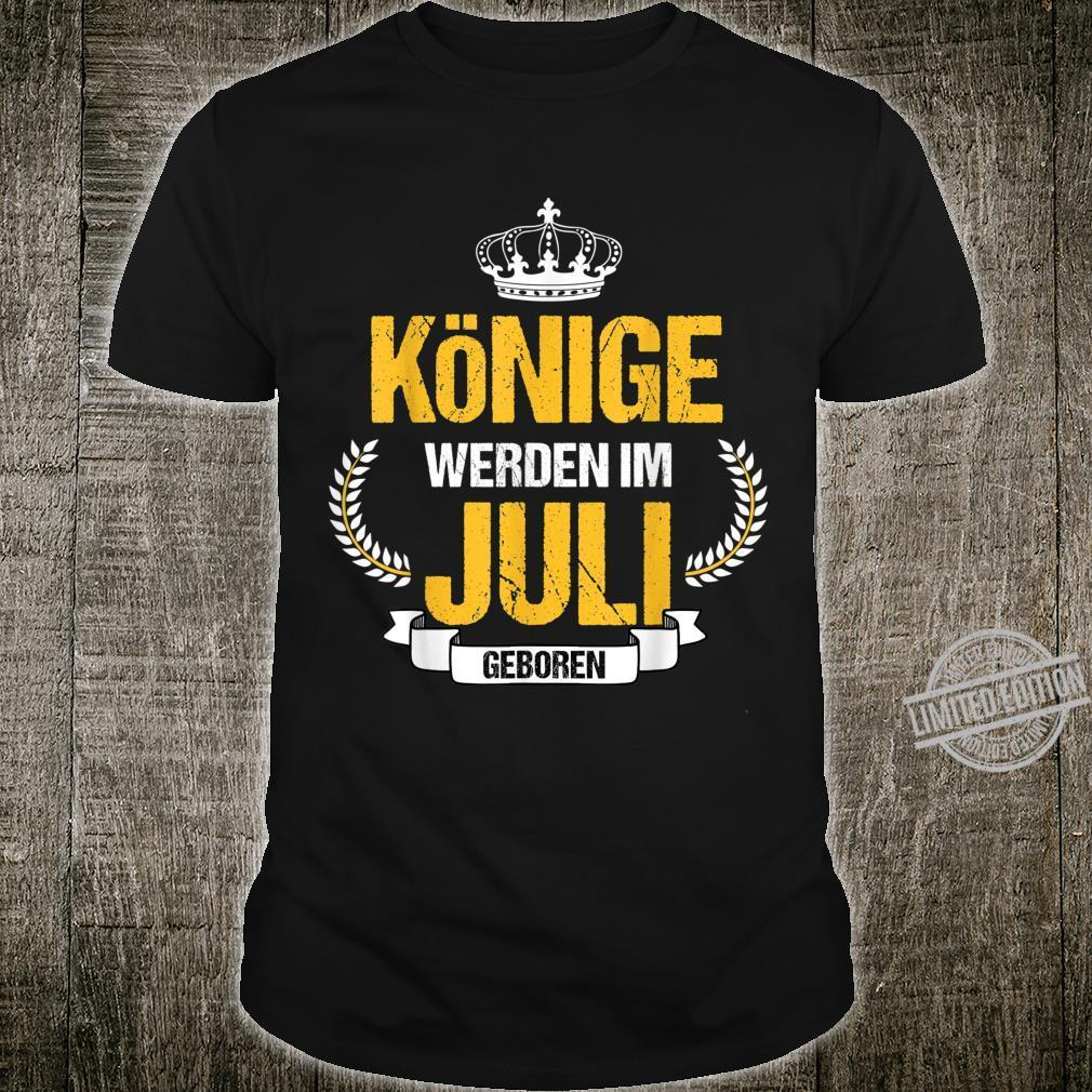 Herren Könige Werden Im Juli Geboren Krebs Löwe Geschenk Shirt