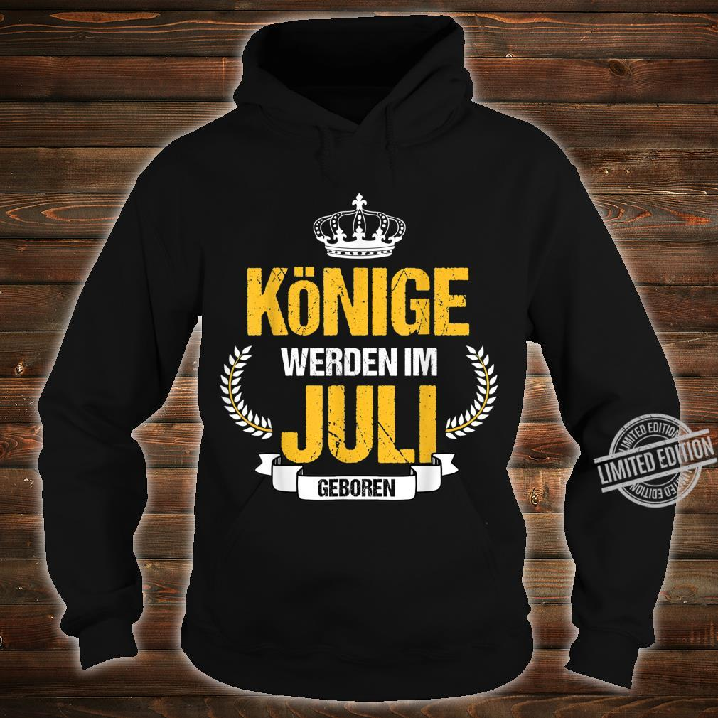 Herren Könige Werden Im Juli Geboren Krebs Löwe Geschenk Shirt hoodie