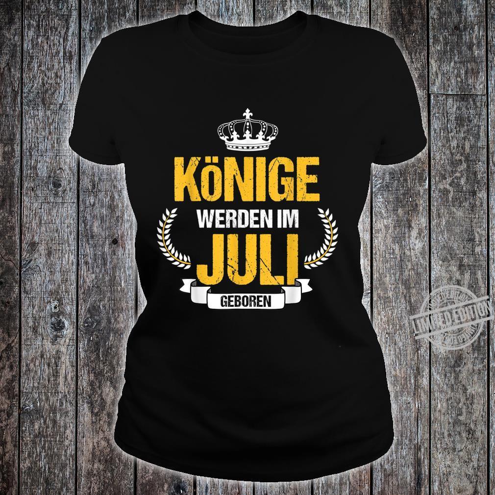 Herren Könige Werden Im Juli Geboren Krebs Löwe Geschenk Shirt ladies tee