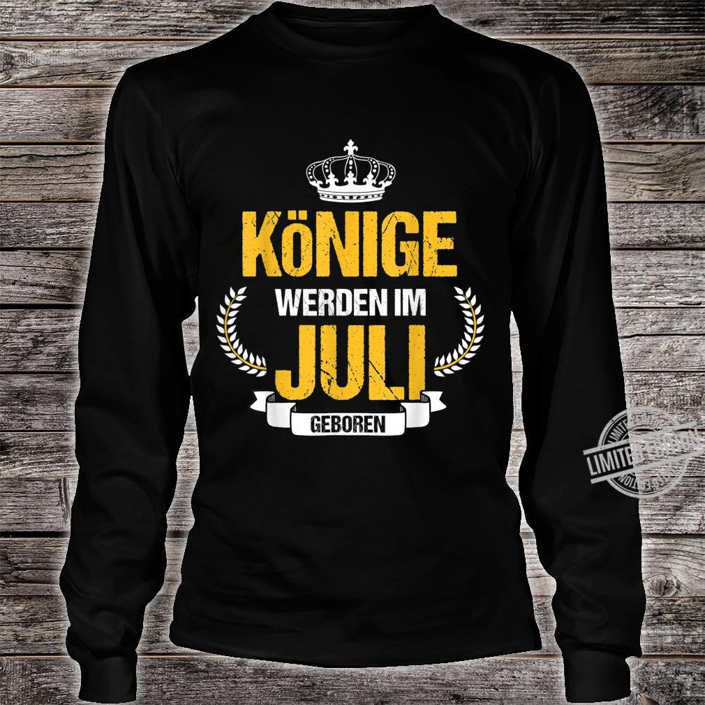 Herren Könige Werden Im Juli Geboren Krebs Löwe Geschenk Shirt long sleeved