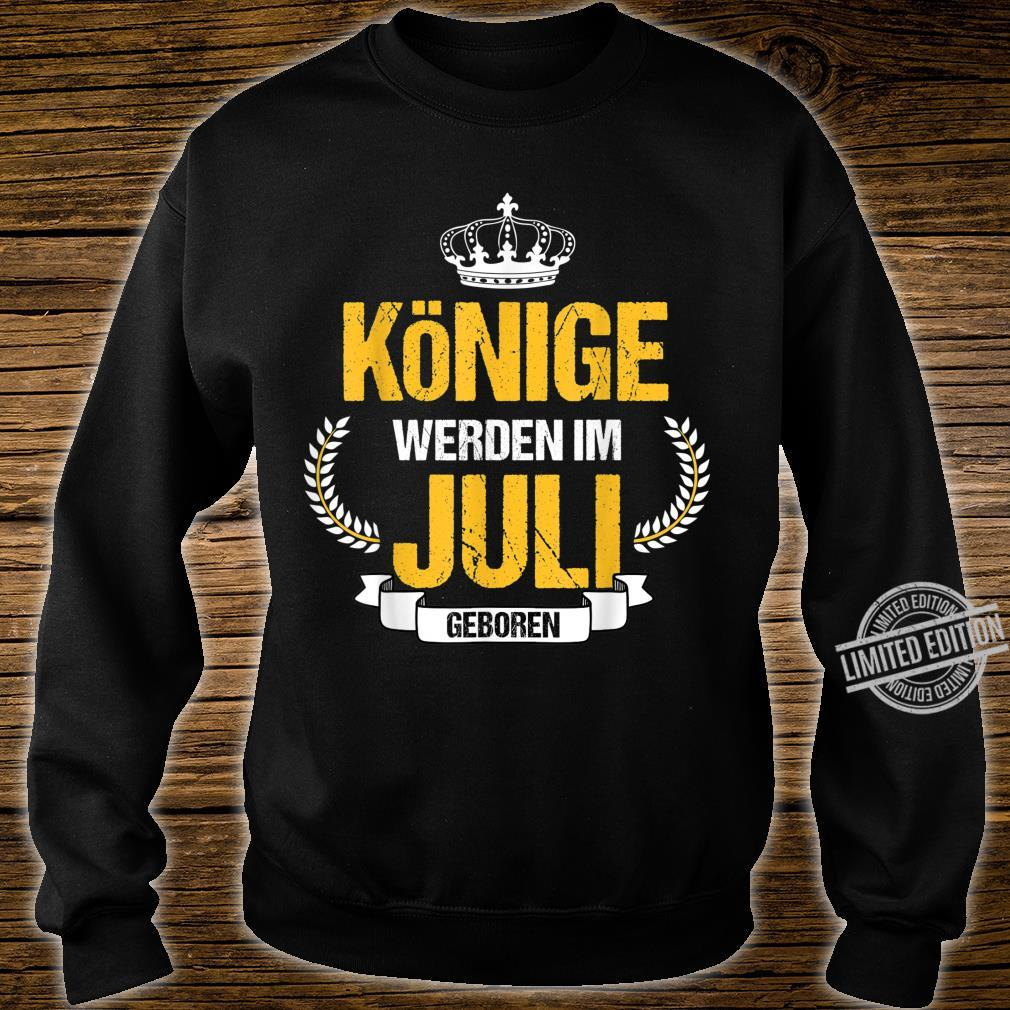 Herren Könige Werden Im Juli Geboren Krebs Löwe Geschenk Shirt sweater