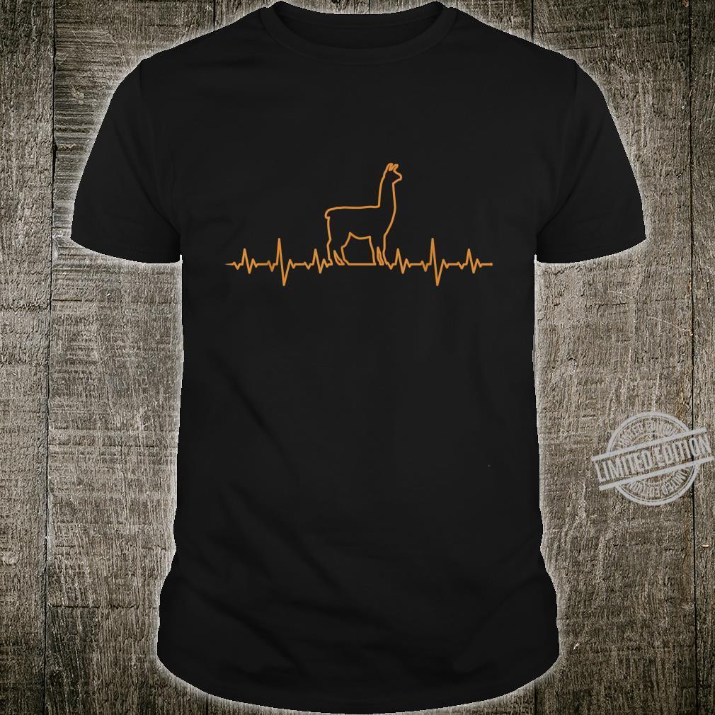 Herren Llama Herzschlag EKG Shirt