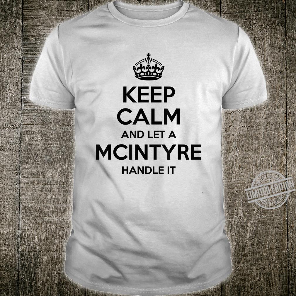 MCINTYRE Surname Family Tree Birthday Reunion Shirt