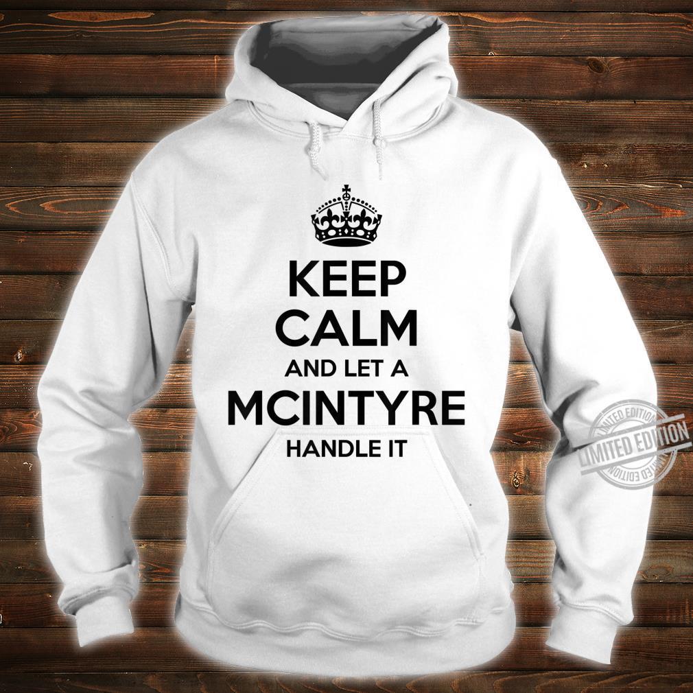 MCINTYRE Surname Family Tree Birthday Reunion Shirt hoodie