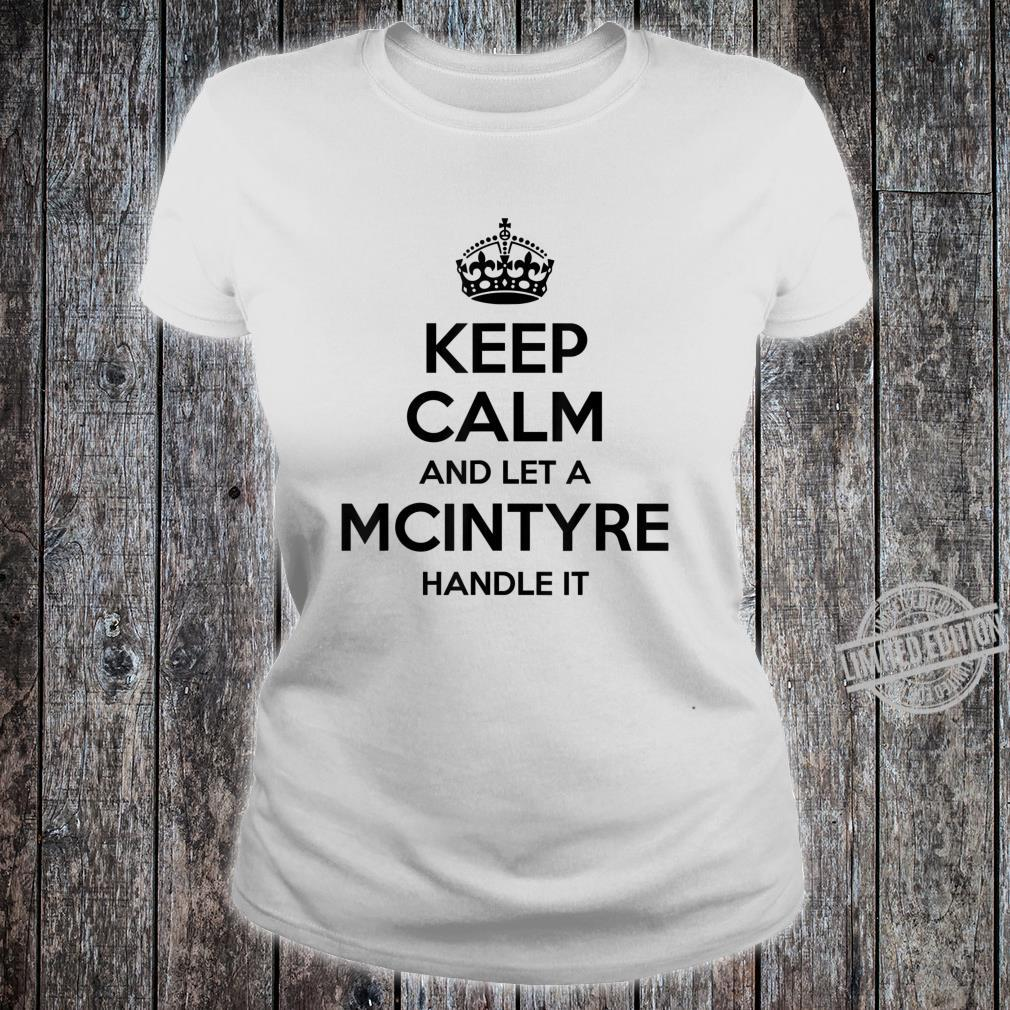 MCINTYRE Surname Family Tree Birthday Reunion Shirt ladies tee