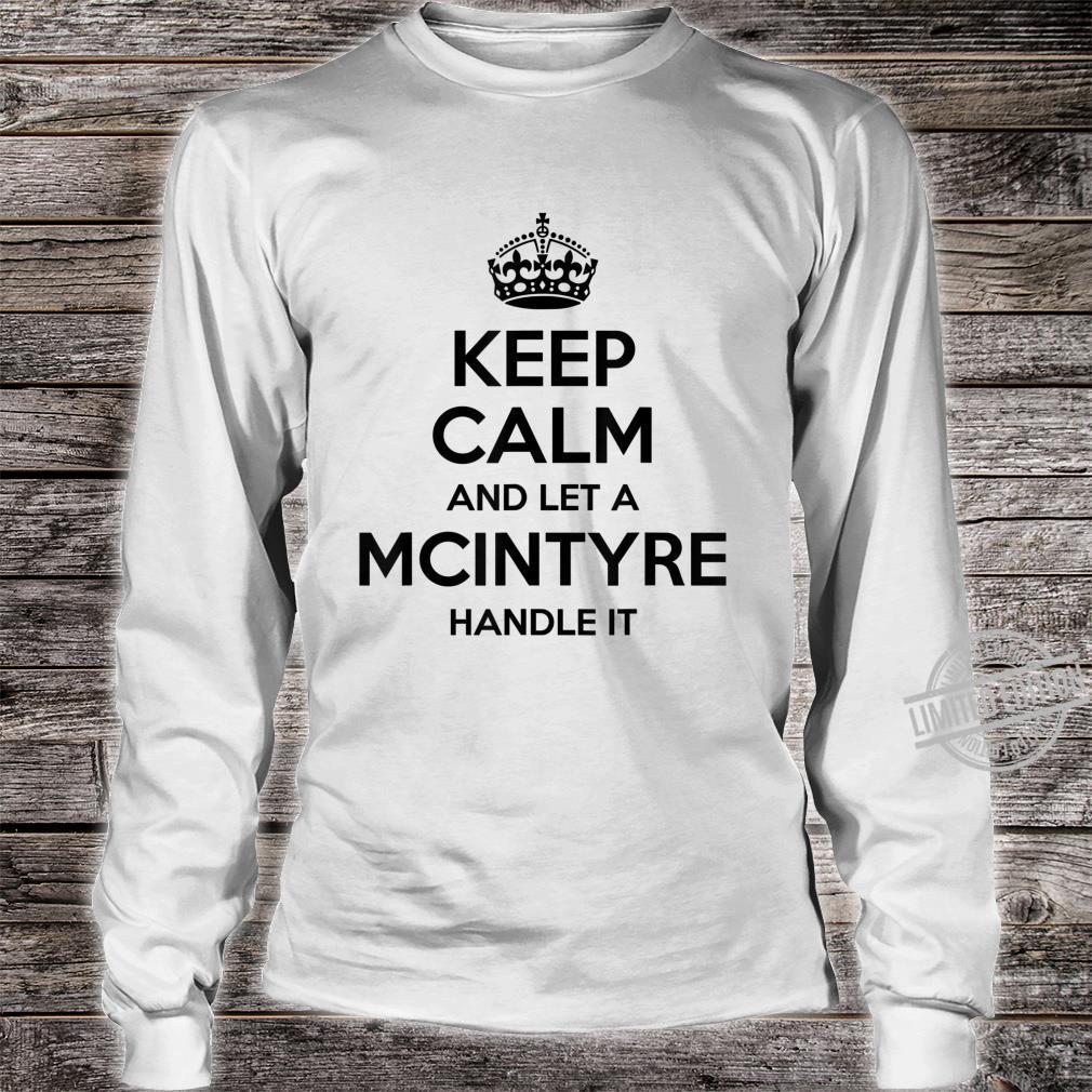 MCINTYRE Surname Family Tree Birthday Reunion Shirt long sleeved