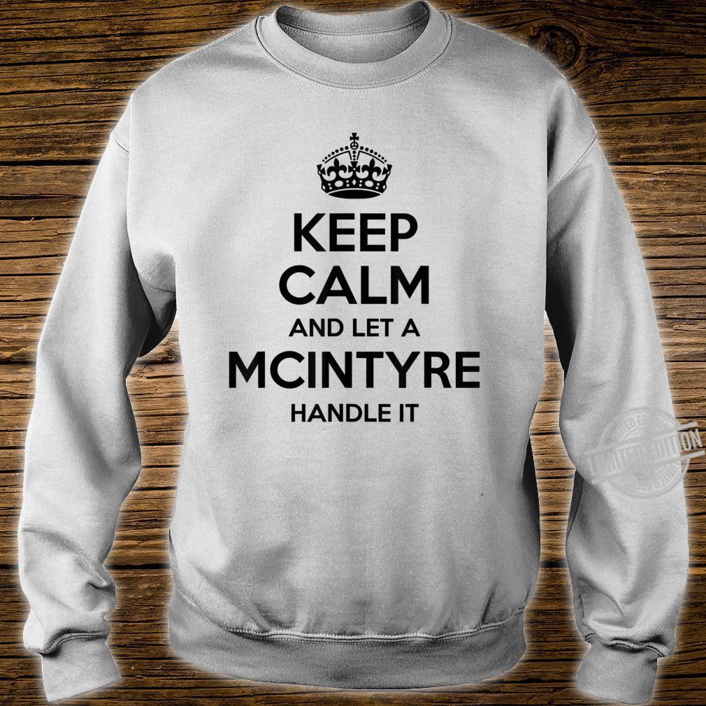 MCINTYRE Surname Family Tree Birthday Reunion Shirt sweater