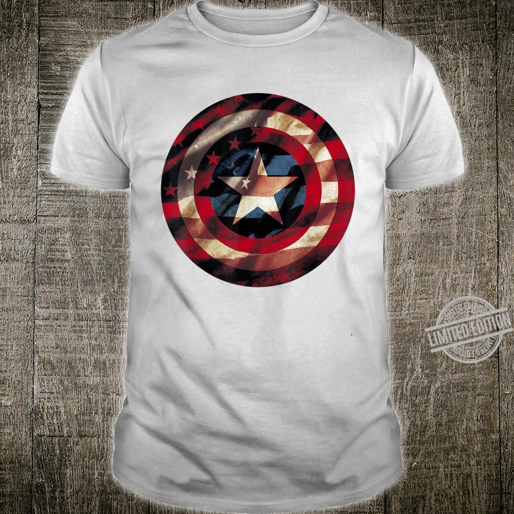 Marvel Captain America Shield Flag Logo Shirt