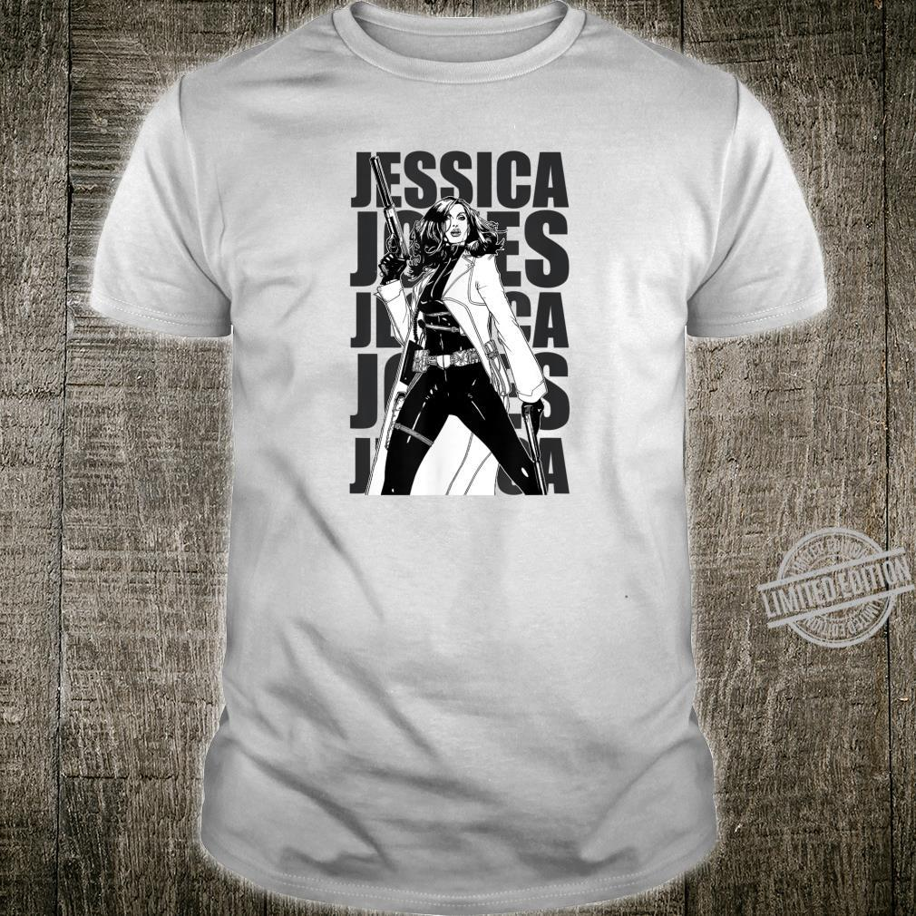 Marvel Jessica Jones Say It Again Text Stack Graphic T-Shirt