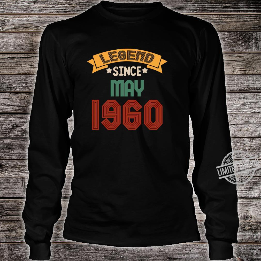 May 60 years old Legend Since May 19602020 Shirt long sleeved