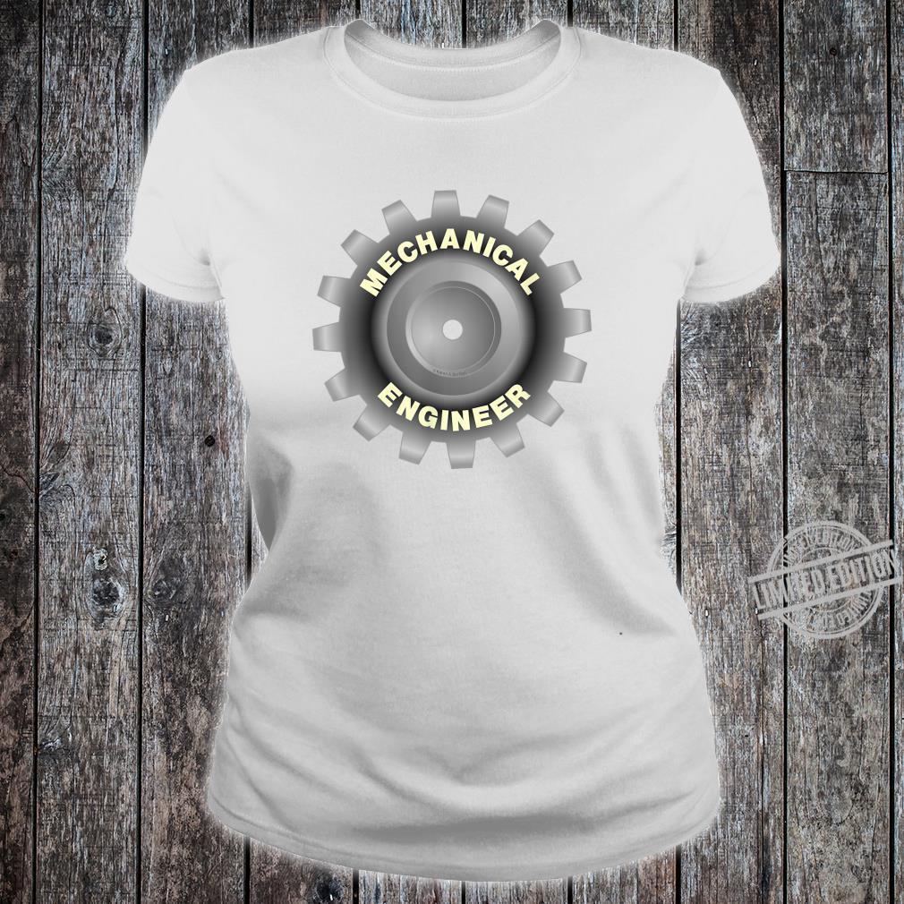 Mechanical Engineer Gray Gear Shirt ladies tee