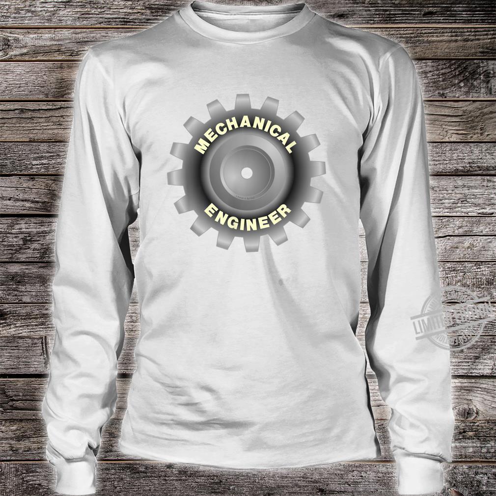 Mechanical Engineer Gray Gear Shirt long sleeved