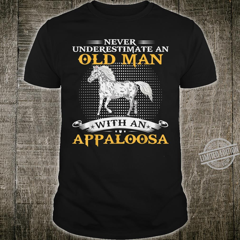 Mens Never Underestimate An Old Man With An Appaloosa Horse Shirt