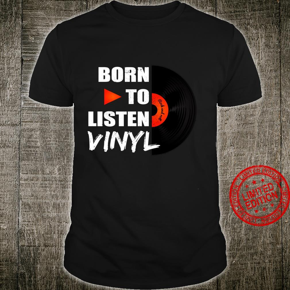 Music Collector Vintage Vinyl Record Player Shirt