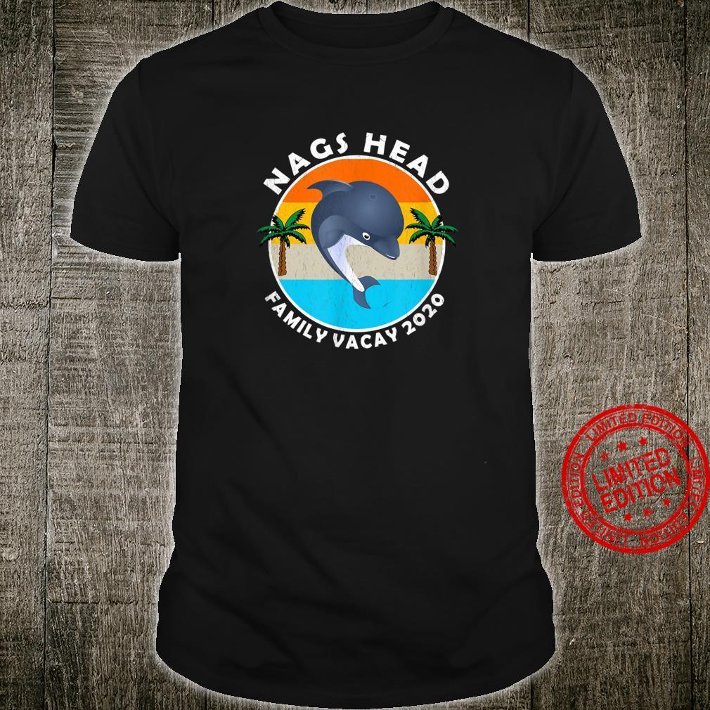 Nags Head Family Vacay 2020 Dolphin Palm Trees Vacation Shirt