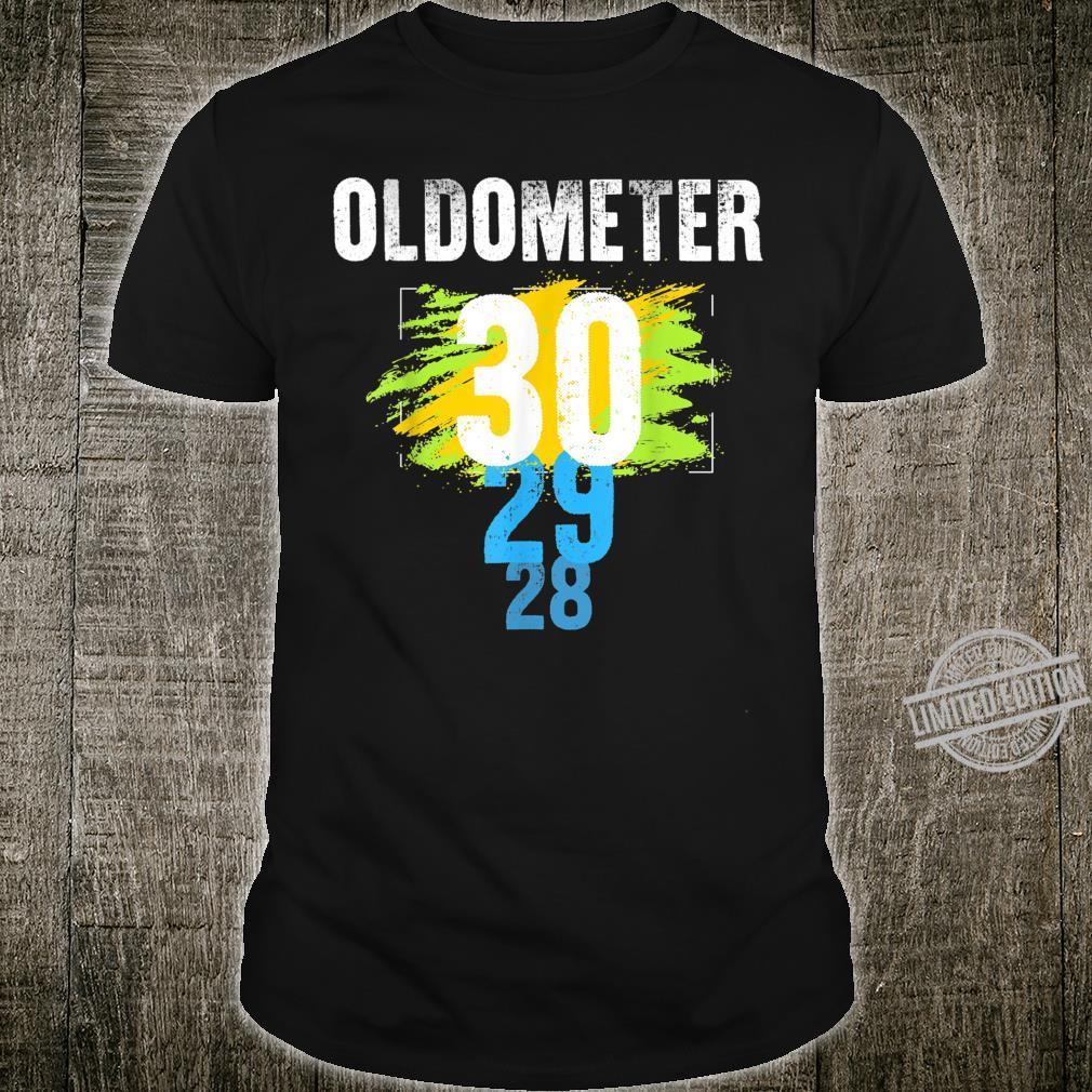 Oldometer 29 to 30 Born in 1990 Birthday Shirt