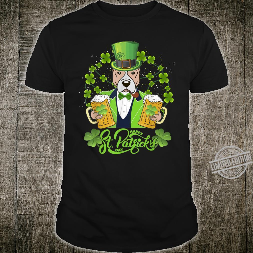 Pitbull Dog Shamrock St Patrick's Day Shirt