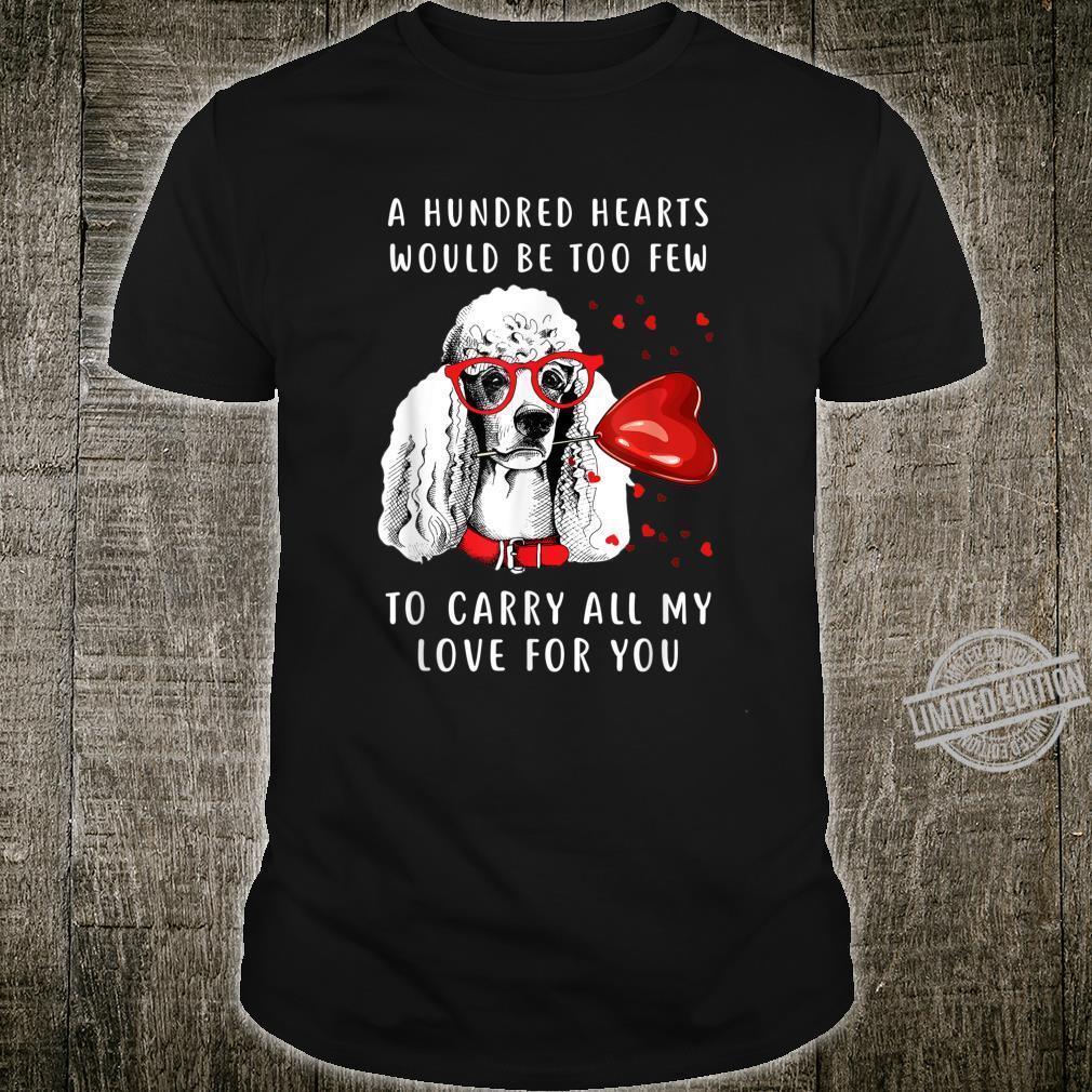 Poodle Holding Heart Balloon Valentine Dog Mom Shirt