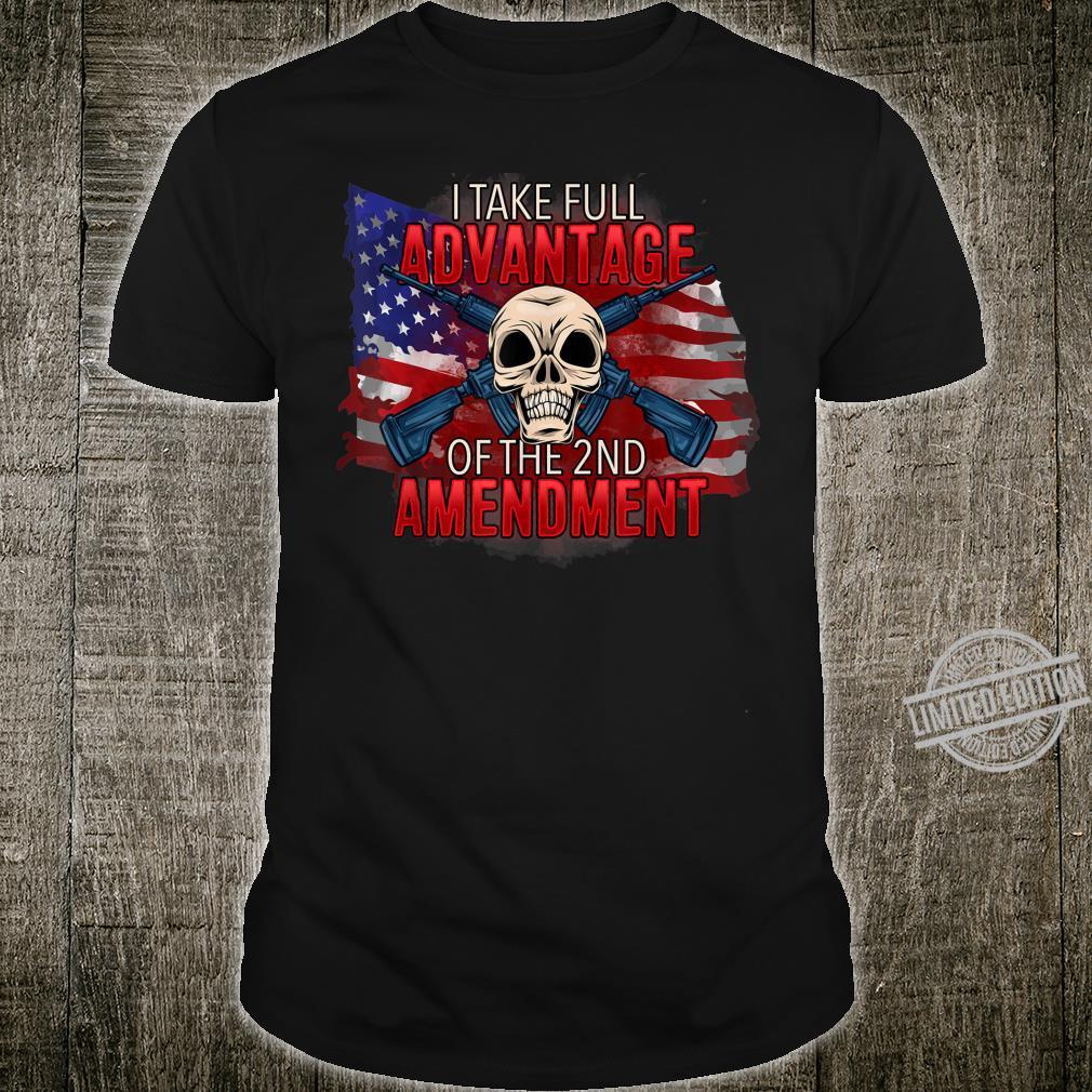 Pro Gun Second Amendment American Flag Skull Shirt