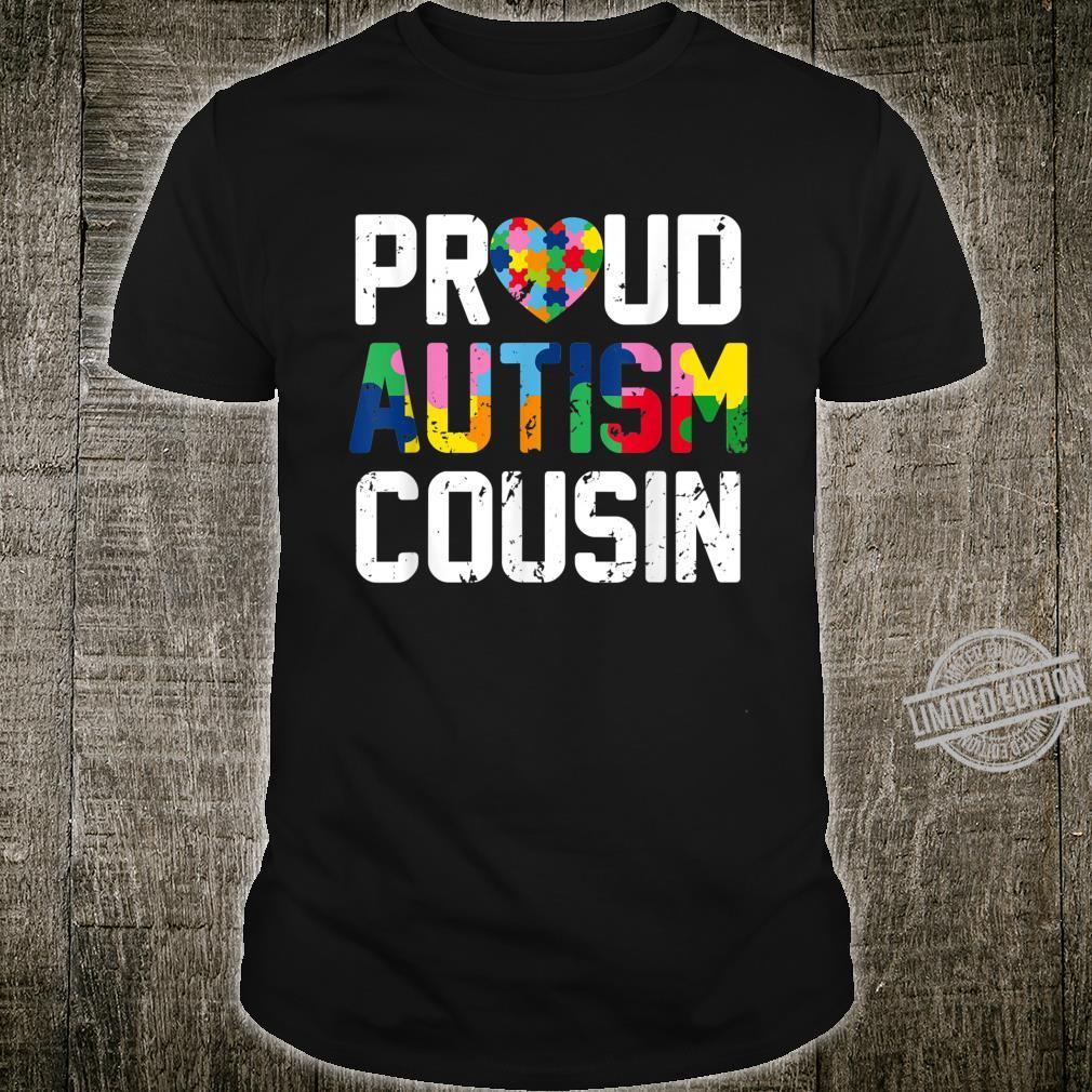 Proud Autism Cousin Costume Autism Awareness Month Shirt