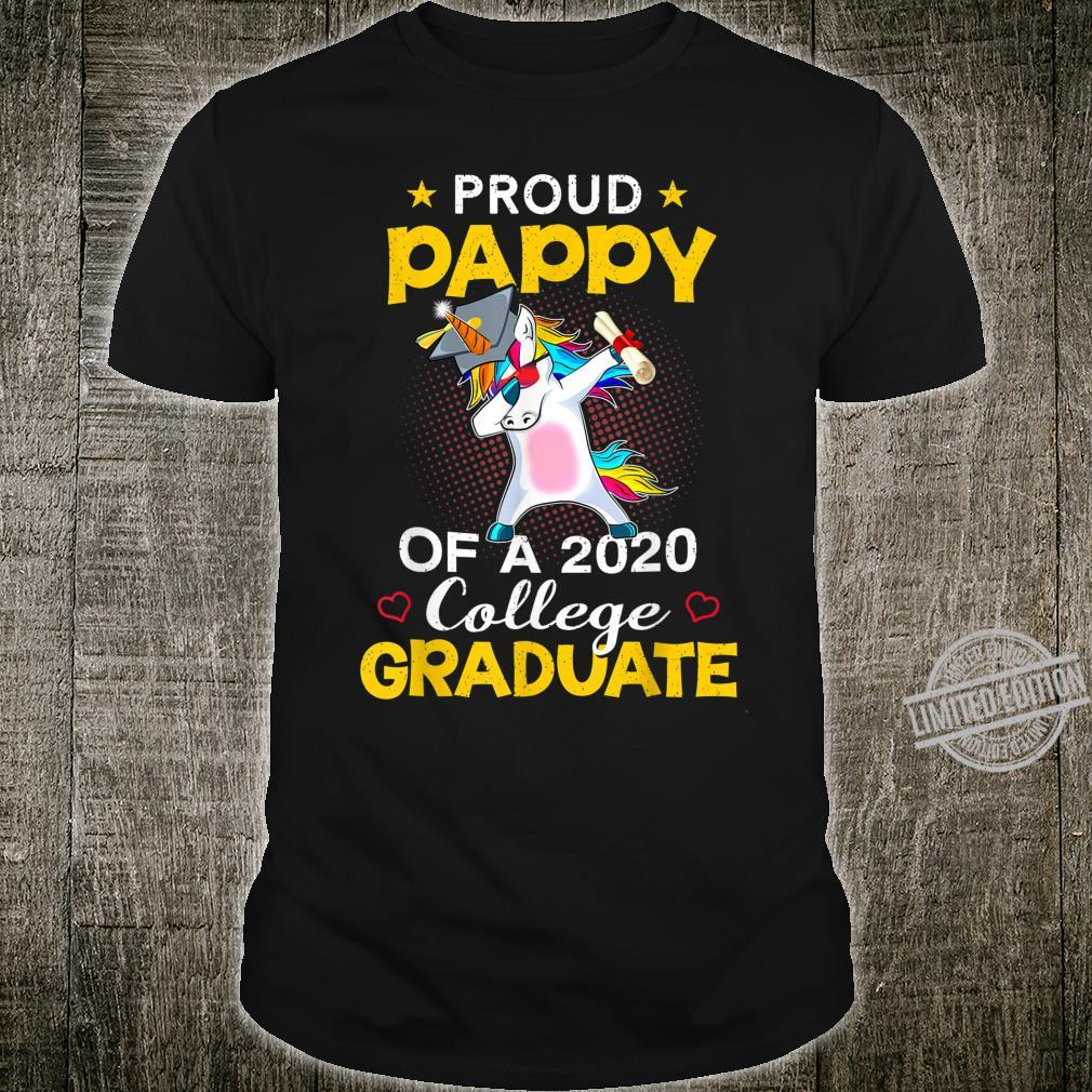 Proud Pappy Of A 2020 College Graduate Unicorn Dabbing Shirt