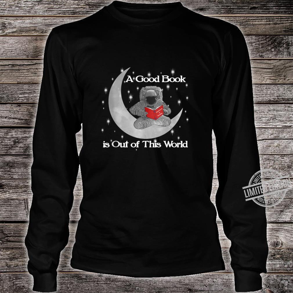 Read Out Of World Stars Reading Astronaut Shirt long sleeved