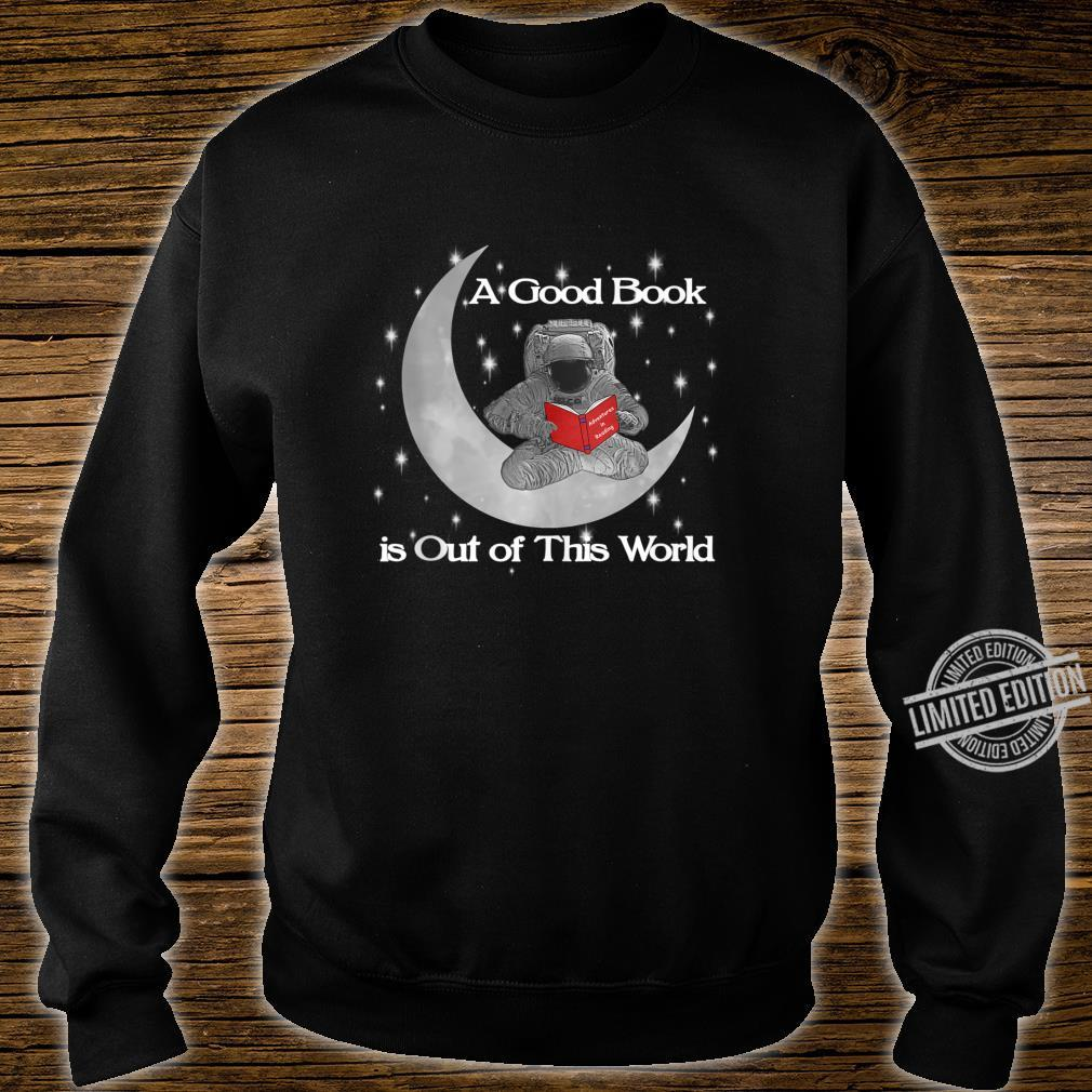 Read Out Of World Stars Reading Astronaut Shirt sweater
