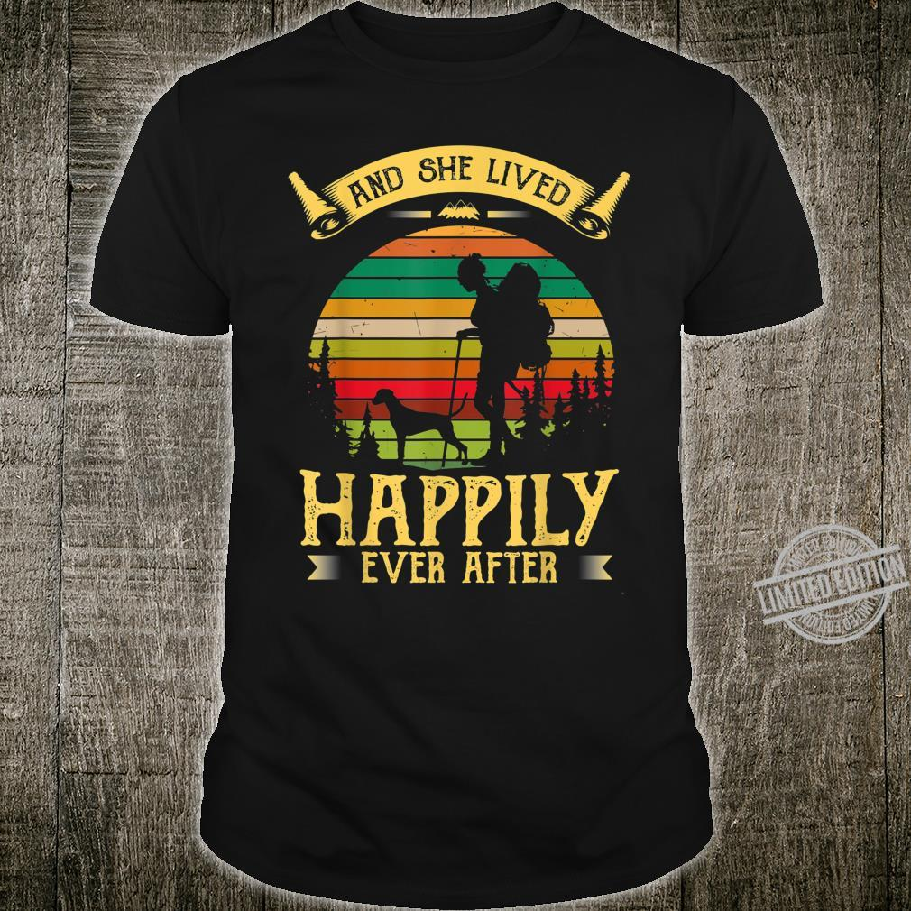 Retro Hiking Dog DALMATIAN And She Lived Happily Ever After Shirt