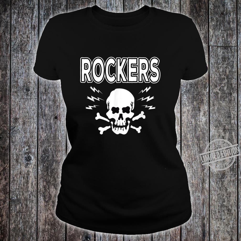 Rockabilly Skull Shirt Rocker Greaser Biker Shirt ladies tee