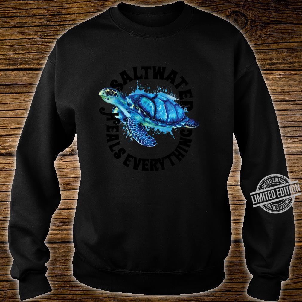 Saltees Saltwater Heals Everything Shirt sweater