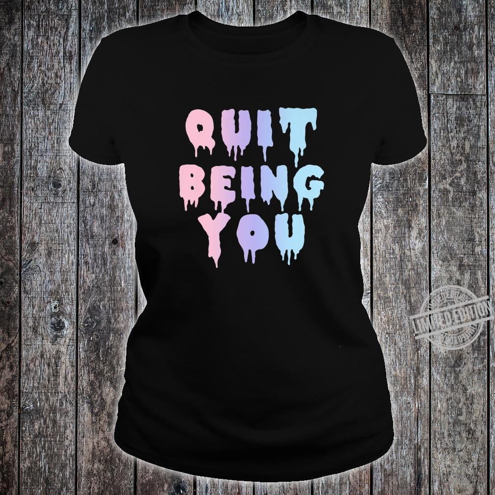 Sarcastic Kawaii Sad Aesthetic Pastel Goth Shirt ladies tee