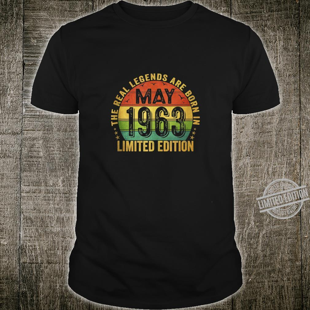 The Real Legend Are Born In May 1963 Limited Edition Shirt