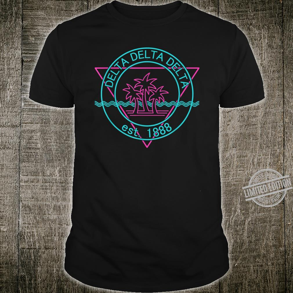 Tri Delt Retro Styled Beach Waves and Palm Trees Shirt