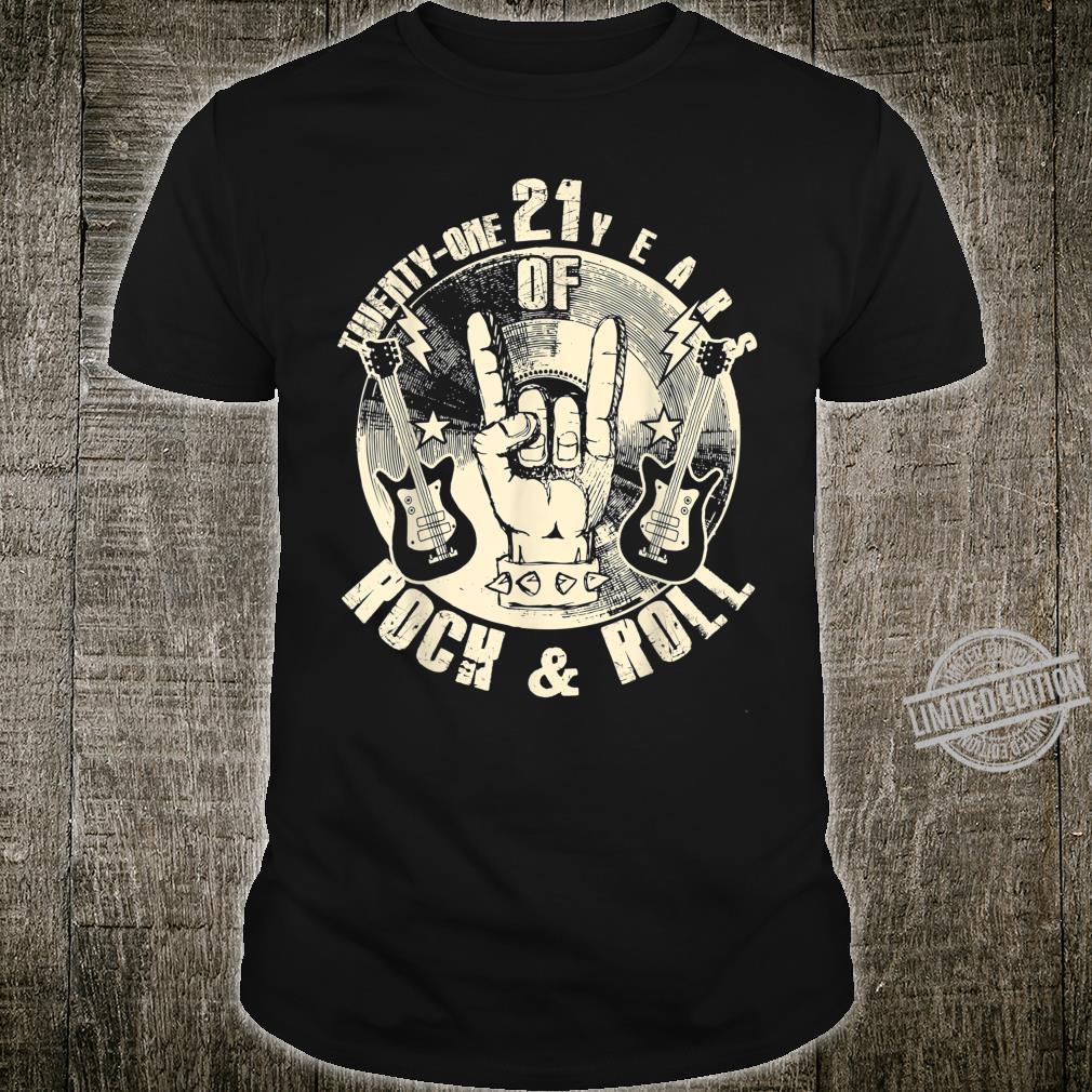 TwentyOne 21 Years Of Rock & Roll 21th Birthday Vintage Shirt