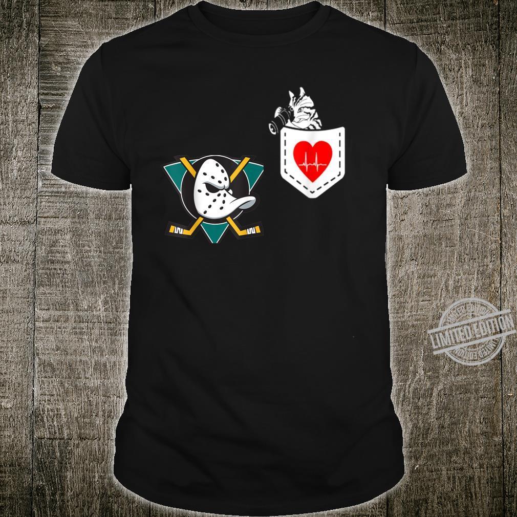 Valentine hockey Heartbeat Cat Team anaheimduck Shirt