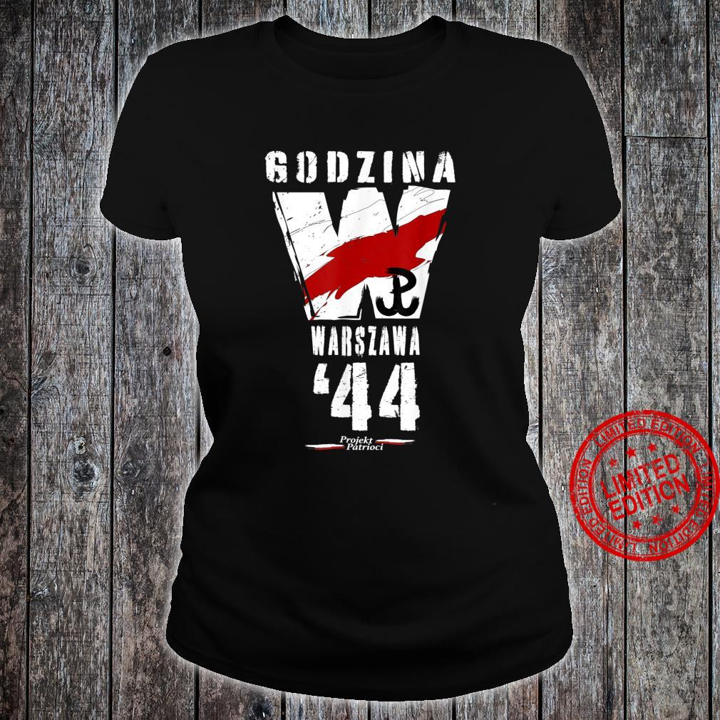 Warsaw Uprising 1944 Polish Patriotic Polska Walczaca Shirt ladies tee