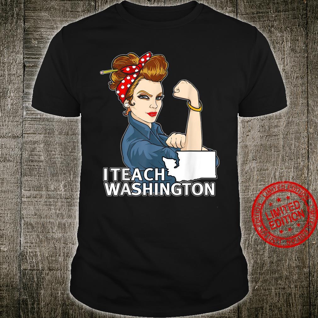 Washington Red For Ed Brown Hair Strong Teacher Shirt