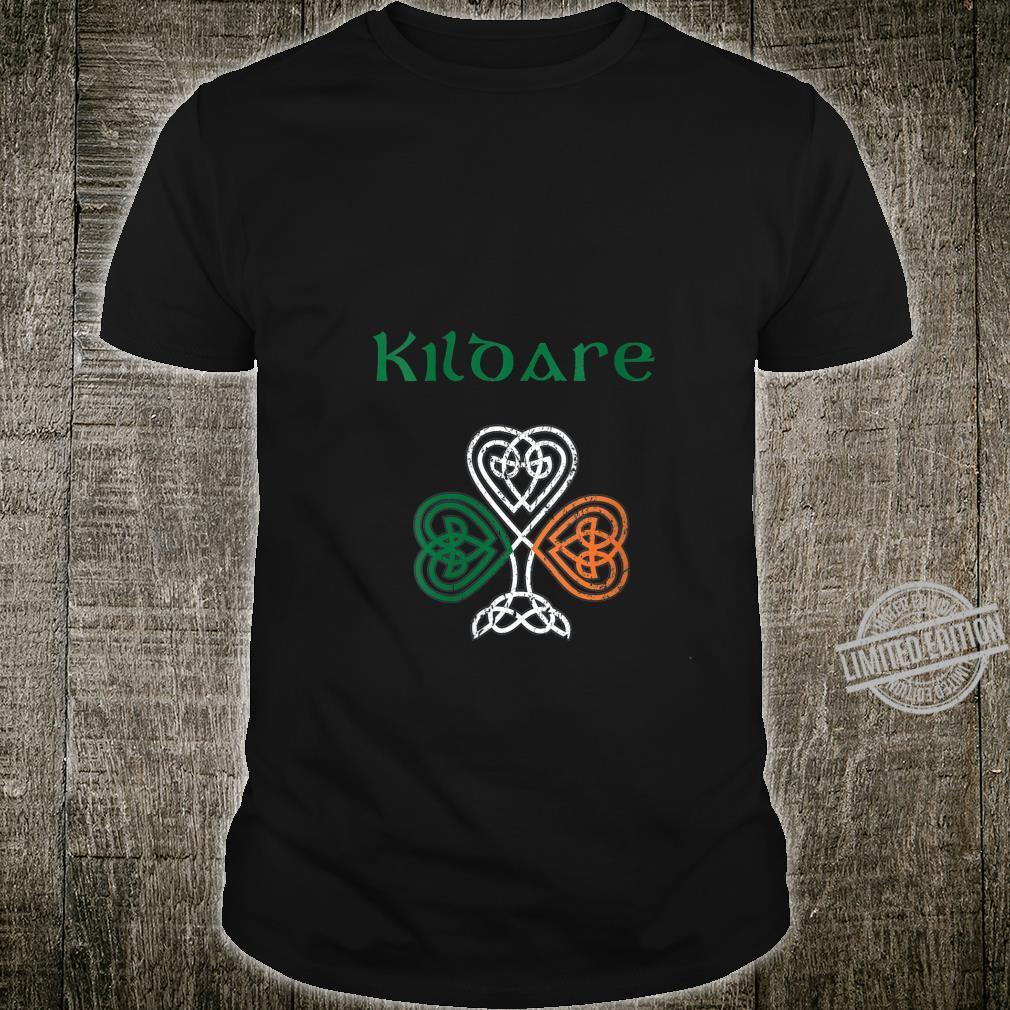Womens County Kildare Shamrock Ireland Flag, craic and ceol, Shirt