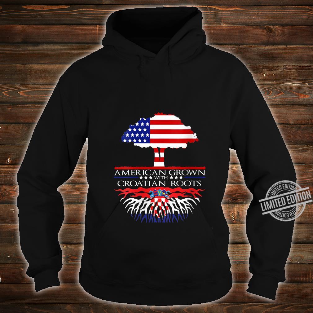 Womens Croatian Roots American Grown US Croatia Eastern European Shirt hoodie