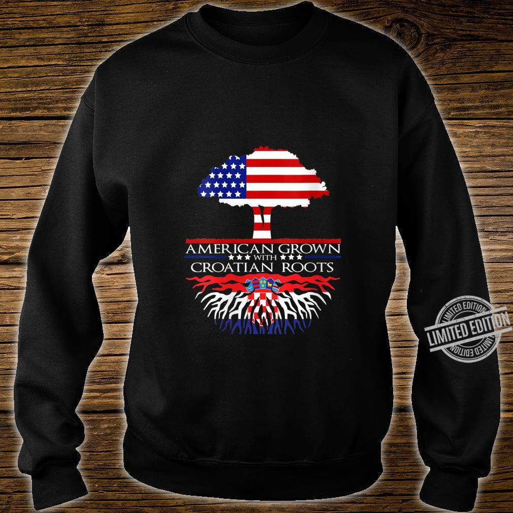 Womens Croatian Roots American Grown US Croatia Eastern European Shirt sweater